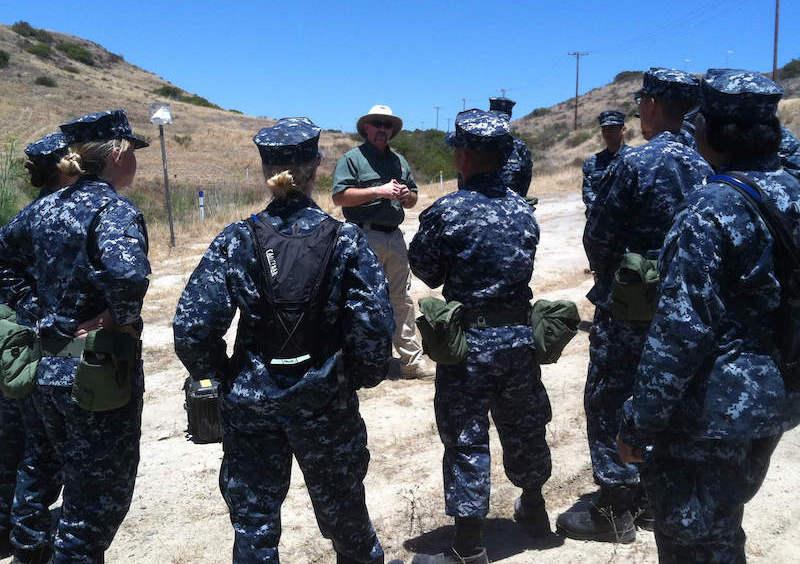Stratom team on military base